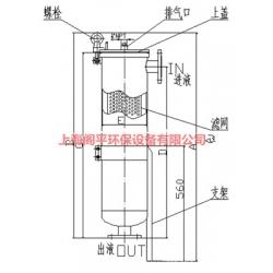 上海阁平0.3微米法兰袋式过滤器