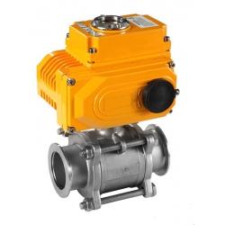 无锡DN32电动卡箍球阀 电动三片式球阀