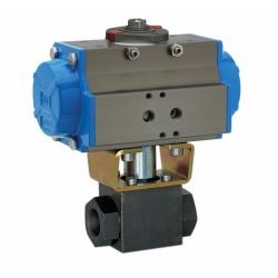 DN15气动高压球阀-Q611N气动高压球阀