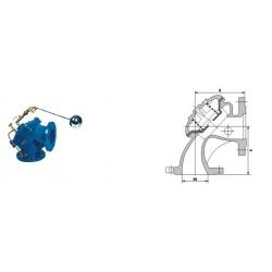 100S角式排泥阀(水力控制阀)