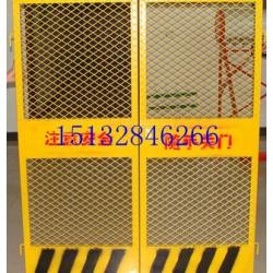 建筑施工电梯门、冲孔板临时电梯门、钢板网喷塑电梯门