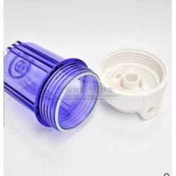 5寸欧式透明滤壳 前置外扣滤瓶 纯水演示器专用过滤壳