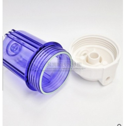 厂家直销 5寸欧式透明瓶 前置外扣滤瓶 纯水演示机专用过滤壳