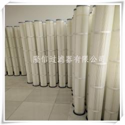 哪家生产除尘器2米高耐高温滤筒 聚酯纤维滤筒