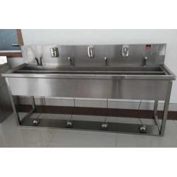 四人不锈钢洗手池价格合理,四人不锈钢洗手池易清洁/可定制