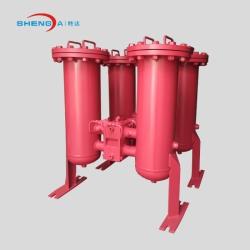 304不锈钢双筒过滤器RFLD型管路过滤器高效精密油过滤设备
