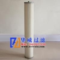 内螺纹两米高覆膜PTFE除尘滤筒滤芯厂家定做【华威】