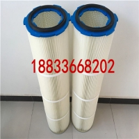 供应高效PTFE/PES聚酯覆膜长纤维除尘滤芯 粉末回收滤筒