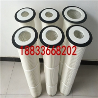 覆膜滤筒 聚酯纤维滤芯 粉末粉尘回收滤筒 喷塑粉房粉末滤筒
