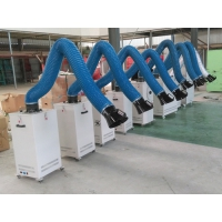 移动式焊接烟雾净化器 油烟废气处理 旱烟除尘器