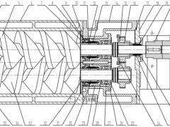 螺杆真空泵结构示意图