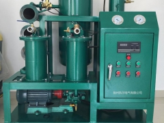双级真空滤油机的作业过程