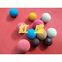 红盛胶球种类详细划分-胶球、剥皮球、金刚砂海绵球、中软胶球