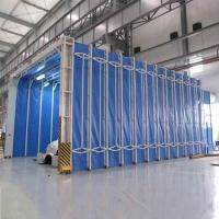 伸缩移动喷漆房 干式过滤 光氧催化整套环保设备