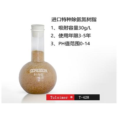 危废废水蒸发器后去除氨氮树脂工艺 杜笙树脂T-42