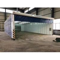 环保耐用移动伸缩喷漆房结构特点