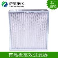 厂家直销医疗制药高效过滤器铝合金边框有隔板高效空气过滤器