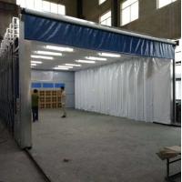 环保移动伸缩喷漆房设计安装