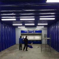 环保移动伸缩喷漆房内部结构图详解