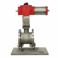 专业气动V型法兰球阀-V型对夹球阀供应商
